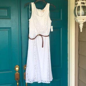 Beautiful new cotton eyelet dress by Dress Barn